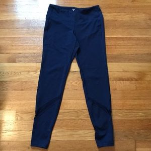 Pants - Navy leggings with mesh panel